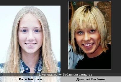 Катя Багрова похожа на Дмитрия Бигбаева