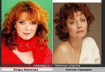 Сьюзан Сарандон и Клара Новикова похожи