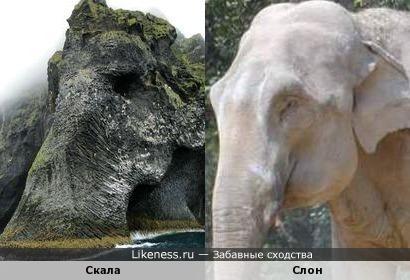 Скала напоминает слона