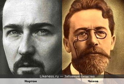 Чехов похож на Нортона