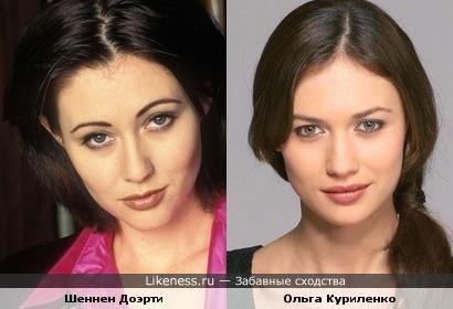 Ольга Куриленко похожа на Шеннен Доэрти