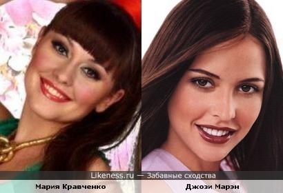 Мария Кравченко похожа на Джози Марэн