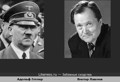 Адольф Гитлер похож на Виктора Павлова