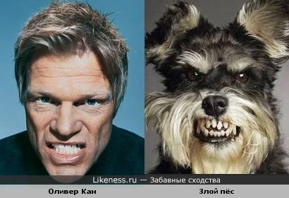 Оливер Кан и злой пёс