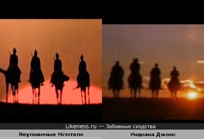 """Финальная заставка в фильме """"Индиана Джонс и последний крестовый поход"""" очень напоминает заставку из Неуловимых"""