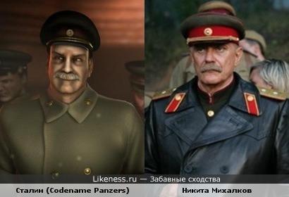Иосиф Сталин из игры Codename Panzers: Cold War очень похож на Никиту Михалкова