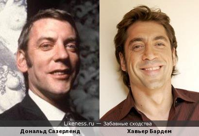 Хавьер Бардем похож на молодого Дональда Сазерленда