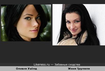 Евгения Феофилактова похожа на Оливию Уайлд