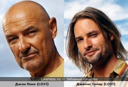 Джон Локк и Сойер (Остаться в живых) похожи, как отец с сыном...