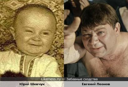 """Юра (будущий музыкант) и Евгений Леонов (Трошкин/""""Доцент"""")"""