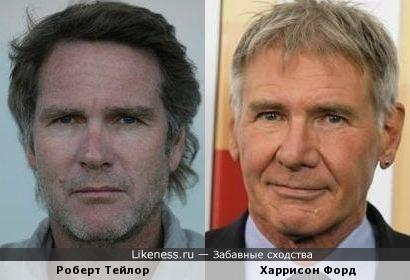 Роберт Тейлор и Харрисон Форд