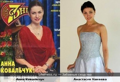 Анна Ковальчук и Анастасия Макеева похожи