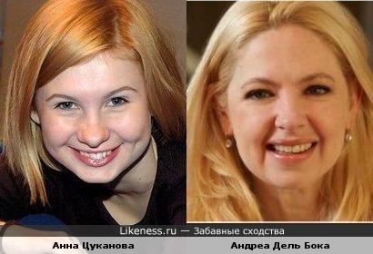 Анна Цуканова и Андреа Дель Бока