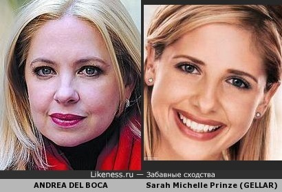 Андре́а дель Бо́ка и Са́ра Мише́ль Принц (Ге́ллар) как мама и дочь?