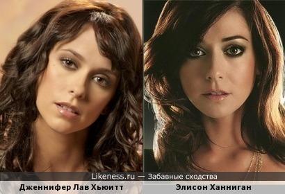 Дженнифер Лав Хьюитт и Элисон Ханниган