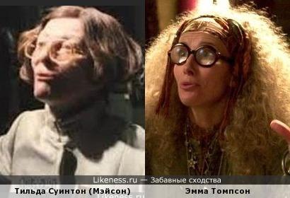 Тильда Суинтон и Эмма Томпсон в образах