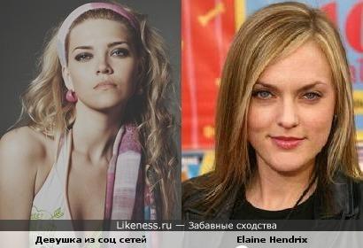 Девушка из соц сетей похожа на Elaine Hendrix