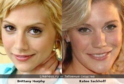 Brittany Murphy похожа на Katee Sackhoff
