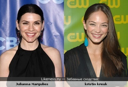 Julianna Margulies похожа на kristin kreuk