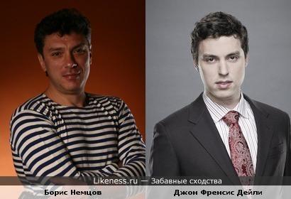 Борис Немцов и Джон Френсис Дейли (навеяно одним из постов, только фотографии другие)