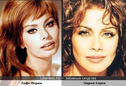 Софи Лорен и Мария Сорте похожи