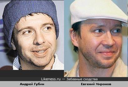 Андрей Губин и Евгений Миронов похожи