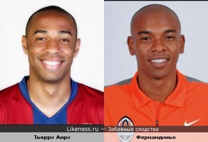 Французский и бразильский футболисты - легионеры