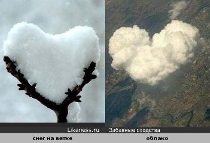 Вода в разных состояниях похожа на сердце