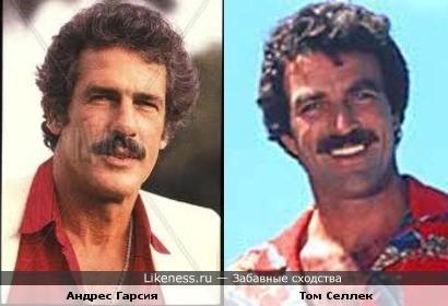 Андрес Гарсия и Том Селлек похожи