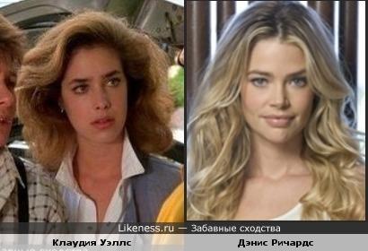 Клаудия Уэллс похожа на Дэнис Ричардс