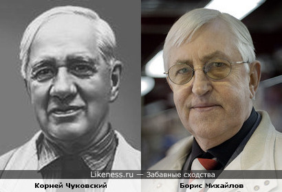 Корней Чуковский и Борис Михайлов похожи