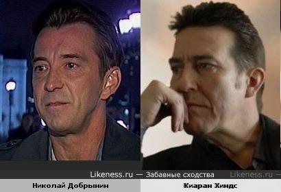 Николай Добрынин и Киаран Хиндс похожи