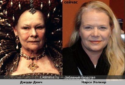 Актрисы Джуди Денч и Марси Уолкер