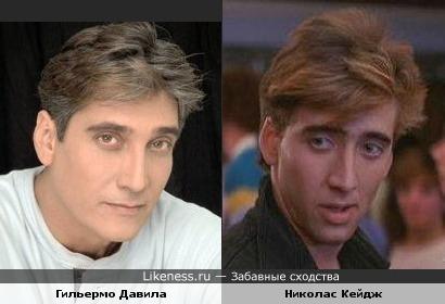 Гильермо Давила и Николас Кейдж