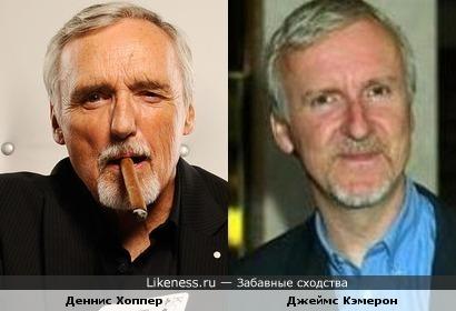 Деннис Хоппер и Джеймс Кэмерон