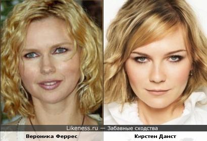Вероника Феррес и Кирстен Данст