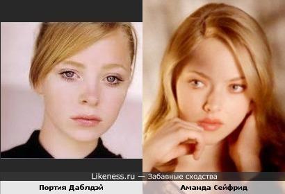 Портия Даблдэй и Аманда Сейфрид