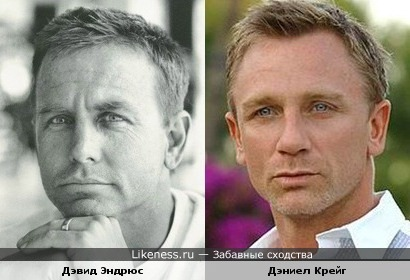Актёры Дэвид Эндрюс и Дэниел Крейг
