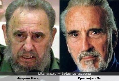 Фидель Кастро и Кристофер Ли