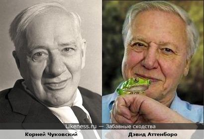 Корней Чуковский и Дэвид Аттенборо