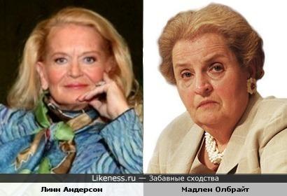 Линн Андерсон и Мадлен Олбрайт