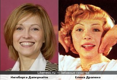 Актрисы Ингеборга Дапкунайте и Елена Драпеко