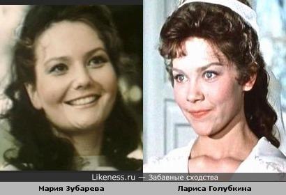 Мария Зубарева и Лариса Голубкина