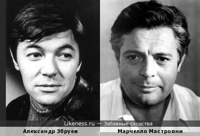 Александр Збруев и Марчелло Мастрояни