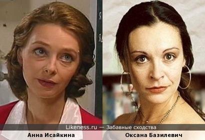 Анна Исайкина и Оксана Базилевич