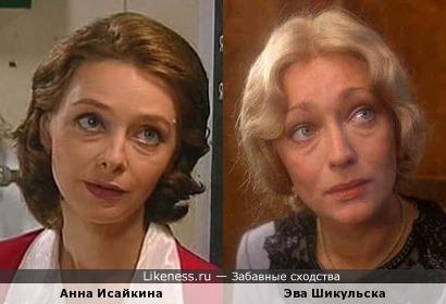 Актрисы Анна Исайкина и Эва Шикульска