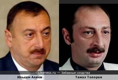 Ильхам Алиев и Тамаз Толорая