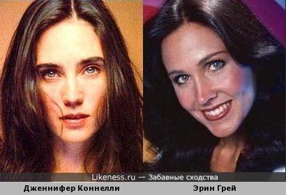 Дженнифер Коннелли и Эрин Грей