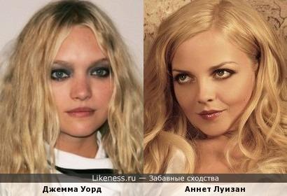 Джемма Уорд и Аннет Луизан