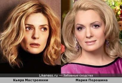 Кьяра Мастроянни и Мария Порошина